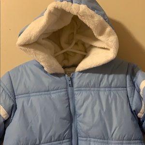 Children's Place Jackets & Coats - Children's Place Blue Snowsuit for Boy 12 months